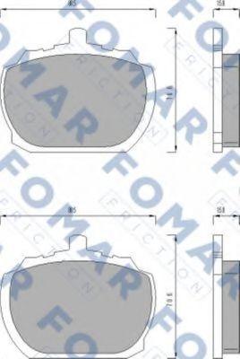 Колодки тормозные FOMAR FRICTION FO423581