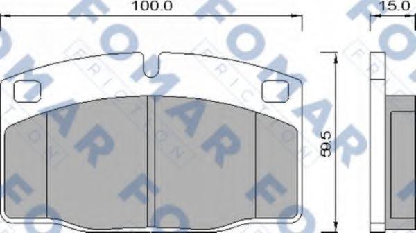 Колодки тормозные FOMAR FRICTION FO426981