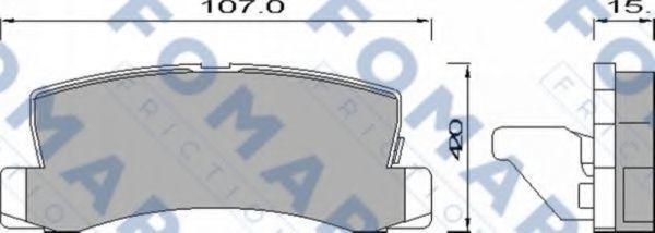 Колодки тормозные FOMAR ROULUNDS FO428881