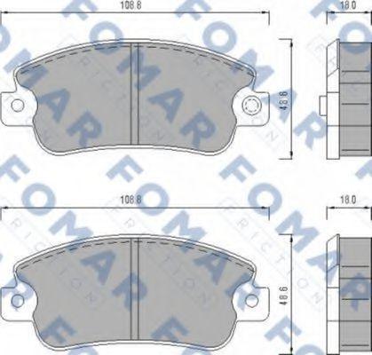 Колодки тормозные FOMAR FRICTION FO433481
