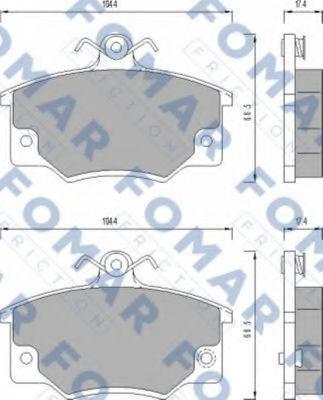 Колодки тормозные FOMAR ROULUNDS FO437381