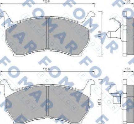 Колодки тормозные FOMAR ROULUNDS FO438781