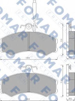 Колодки тормозные FOMAR ROULUNDS FO453081