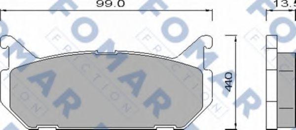 Колодки тормозные FOMAR FRICTION FO455181