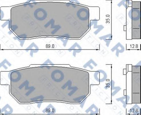 Колодки тормозные FOMAR FRICTION FO456381