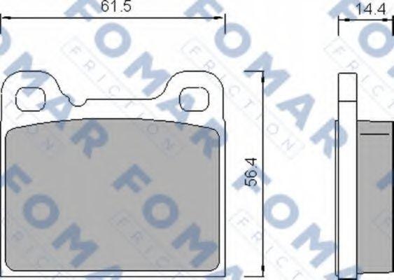 Колодки тормозные FOMAR FRICTION FO458781
