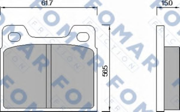 Колодки тормозные FOMAR ROULUNDS FO460285