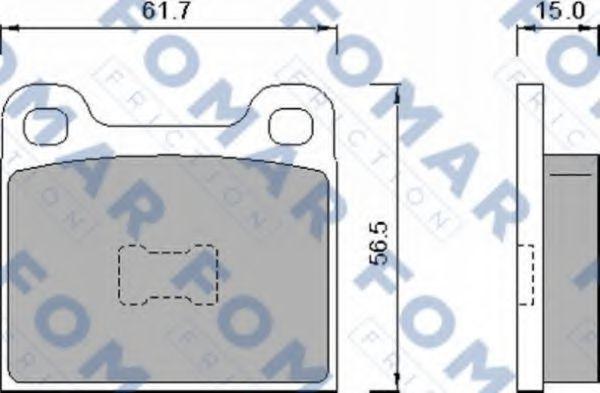 Колодки тормозные FOMAR FRICTION FO460888