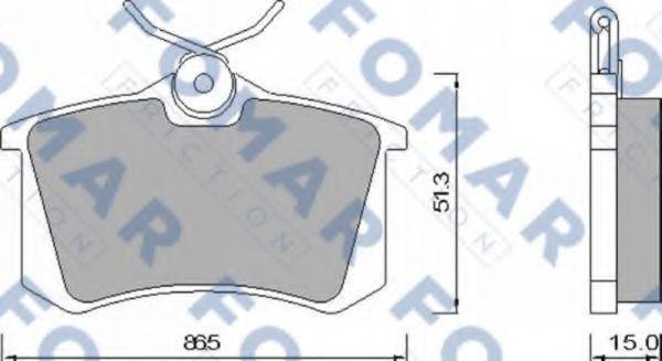 Колодки тормозные FOMAR ROULUNDS FO465381