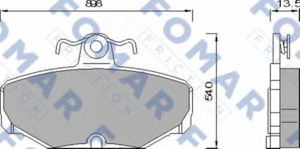 Колодки тормозные FOMAR FRICTION FO468981