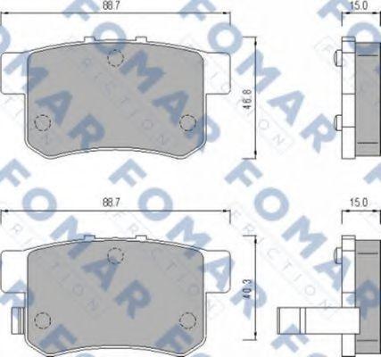 Колодки тормозные FOMAR ROULUNDS FO475181