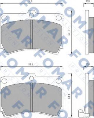 Колодки тормозные FOMAR FRICTION FO477481