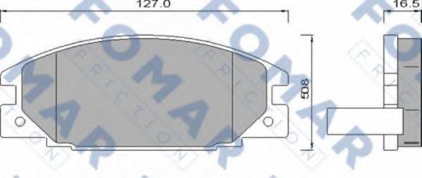 Колодки тормозные FOMAR FRICTION FO486681