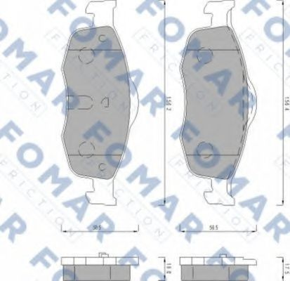 Колодки тормозные FOMAR ROULUNDS FO491681