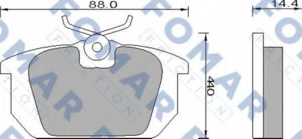 Колодки тормозные FOMAR FRICTION FO493881