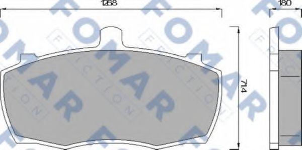 Колодки тормозные FOMAR FRICTION FO499081