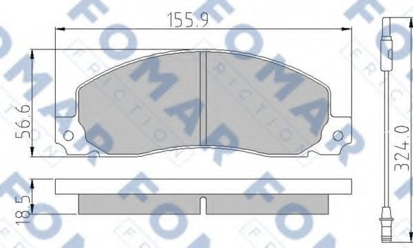 Колодки тормозные FOMAR ROULUNDS FO499681
