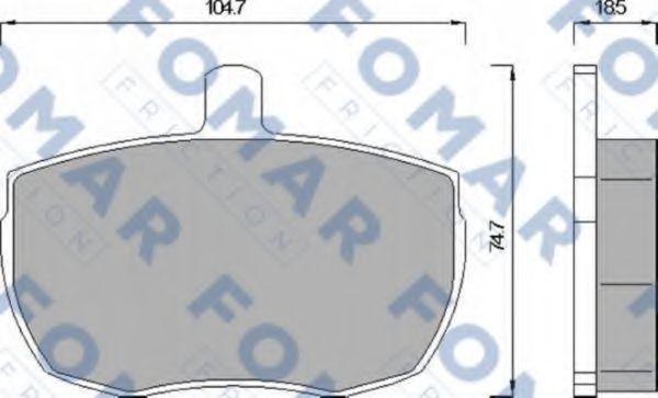 Колодки тормозные FOMAR FRICTION FO543081