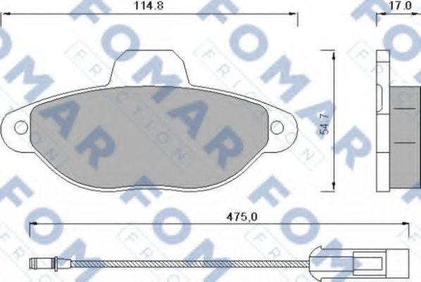 Колодки тормозные FOMAR FRICTION FO582881