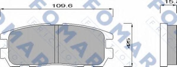 Колодки тормозные FOMAR FRICTION FO621481