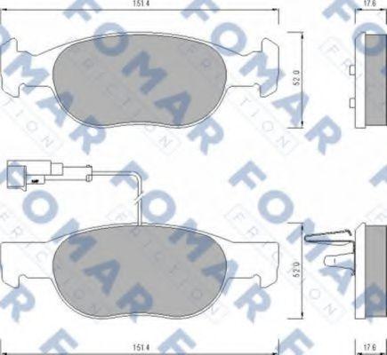 Колодки тормозные FOMAR ROULUNDS FO624381