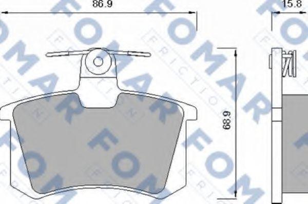 Колодки тормозные FOMAR FRICTION FO625481