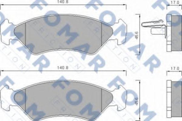 Колодки тормозные FOMAR ROULUNDS FO633481