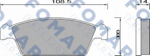 Колодки тормозные FOMAR FRICTION FO644281