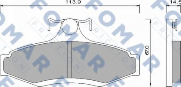 Колодки тормозные задние FOMAR ROULUNDS FO666181