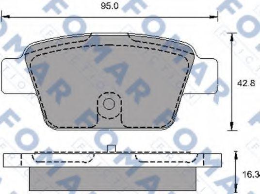 Колодки тормозные FOMAR ROULUNDS FO693981
