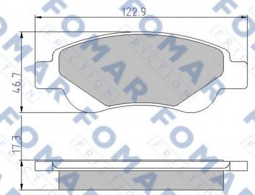 Колодки тормозные FOMAR FRICTION FO929481