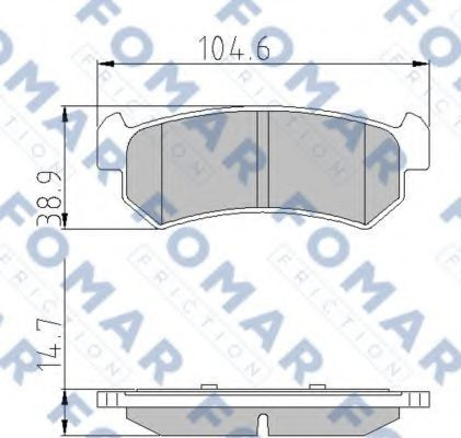 Колодки тормозные FOMAR FRICTION FO929781