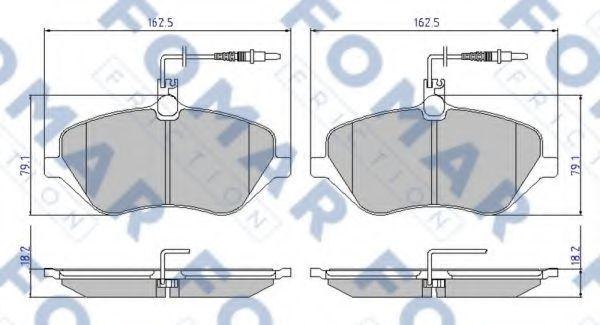 Колодки тормозные FOMAR FRICTION FO934981