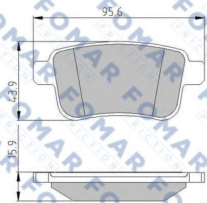 Колодки тормозные FOMAR ROULUNDS FO935681