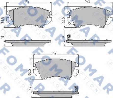 Колодки тормозные FOMAR ROULUNDS FO936181
