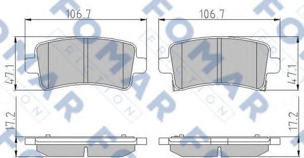 Колодки тормозные задние FOMAR ROULUNDS FO936381