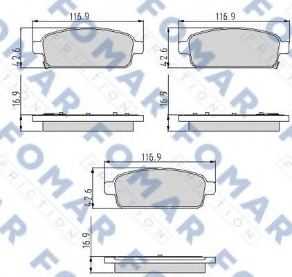 Колодки тормозные FOMAR FRICTION FO936481