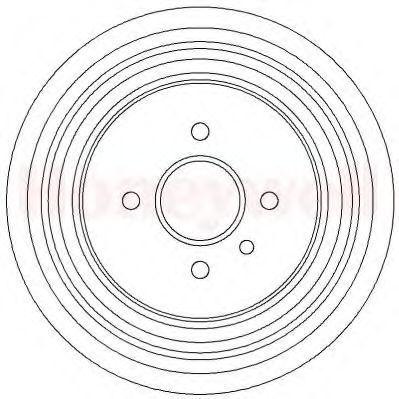 Тормозной барабан BENDIX 329282B