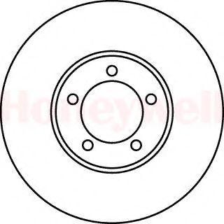 Тормозной диск BENDIX 561049B