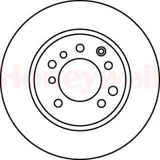 Тормозной диск BENDIX 561050B