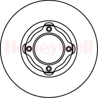 Тормозной диск BENDIX 561058B