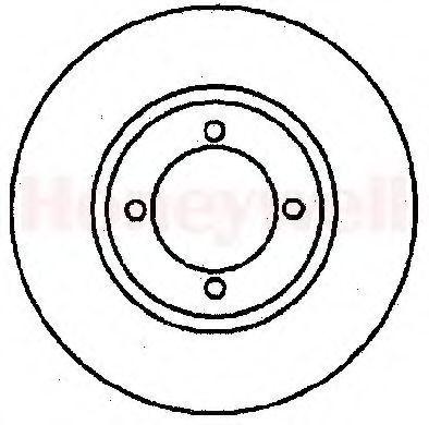 Тормозной диск BENDIX 561124B