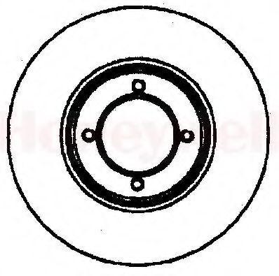 Тормозной диск BENDIX 561155B