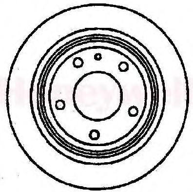 Тормозной диск BENDIX 561262B