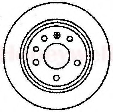 Тормозной диск BENDIX 561289B