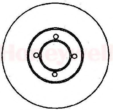 Тормозной диск BENDIX 561318B