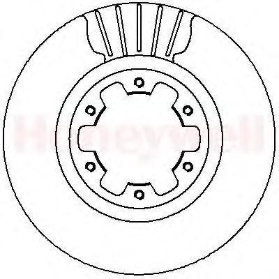 Тормозной диск BENDIX 562279B