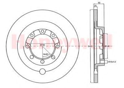 Тормозной диск BENDIX 567144B