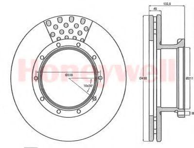 Тормозной диск BENDIX 567751B