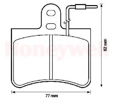 Комплект тормозных колодок, дисковый тормоз BENDIX 571219B